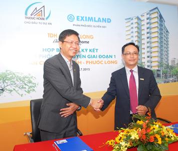 TDH và EximLand ký kết phân phối độc quyền giai đoạn 1 Chung cư TDH – Phước Long