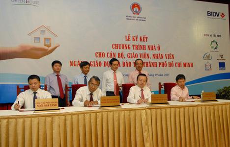 Lễ ký kết chương trình nhà ở cho giáo viên, CB-NV ngành giáo dục TP.HCM