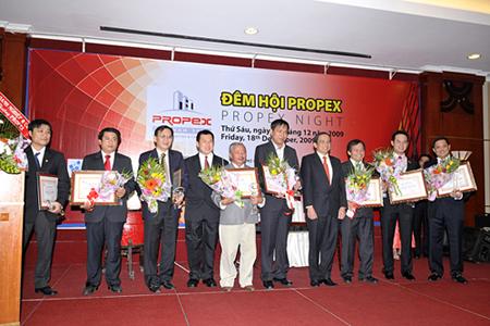 GIẢI THƯỞNG PROPEX VIETNAM 2009, tôn vinh sức mạnh doanh nhân trong ngành bất động sản