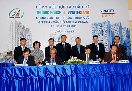 TDH và Vinatex Land ký kết hợp tác đầu tư hai dự án 1700 tỷ đồng